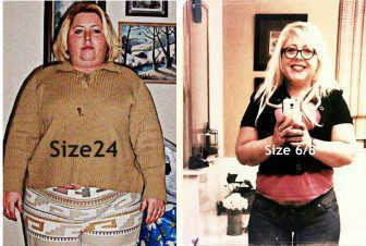 Updated Progress Photo: On the left, me, prior to losing 100 pounds. The photo on the right was taken Dec. 2014.