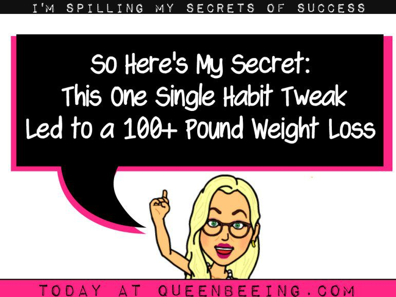 this one trick led to a 100 pound weight loss