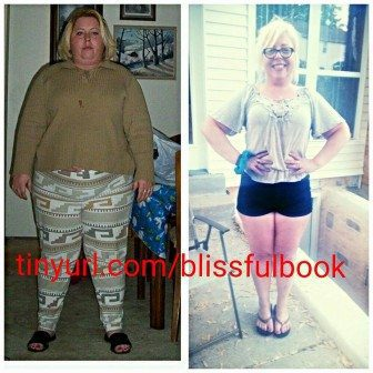 100 pounds lost before and after 5 feet tall