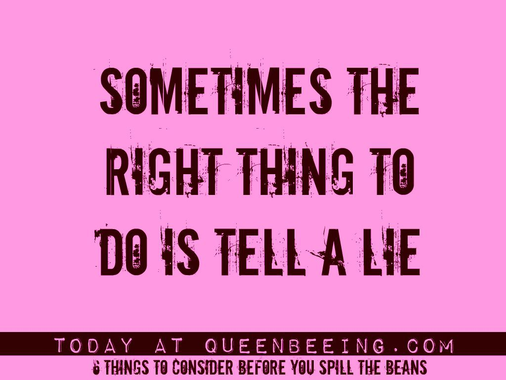 The truth about when it's okay to lie