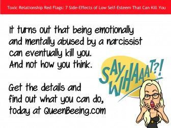 A toxic relationship with a narcissist can literally kill you