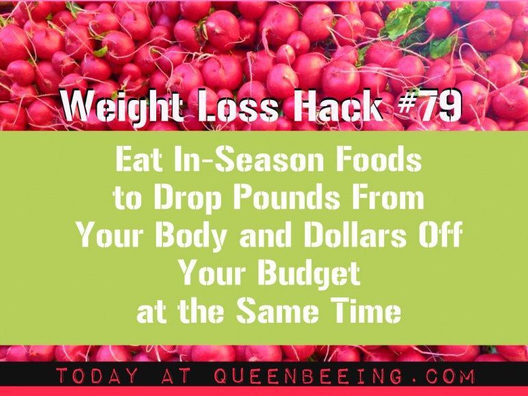 Eat in-season and lose weight faster and cheaper