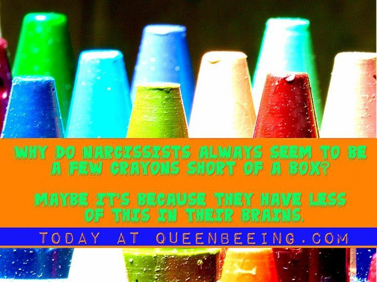 Why narcissists are a few crayons short of a box