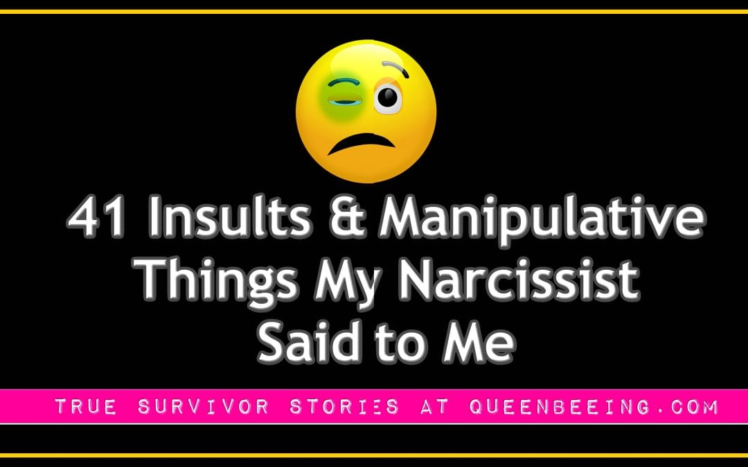 41 Insults & Manipulative Things My Narcissist Said to Me