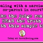 How to Effectively Speak to a Judge in Child Custody Cases with a Narcissist Co-Parent