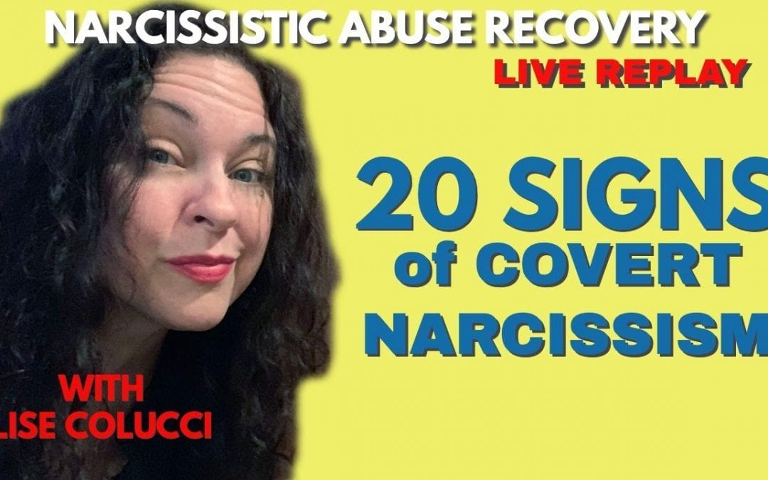 20 Signs of Covert Narcissism